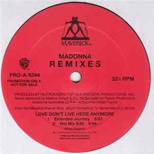 Madonna - Love Don't Live Here Anymore - Remixes Album