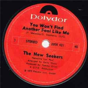 The New Seekers - You Won't Find Another Fool Like Me Album